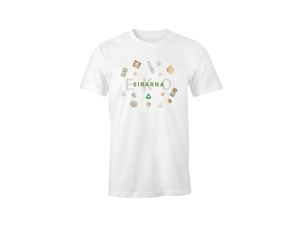 Majica ekosirarna - bela